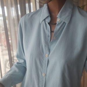 J Crew button down shirt light blue top sz S / M